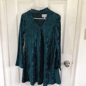 Nicole Miller STUDIO Ribbed Gigi Velvet Dress